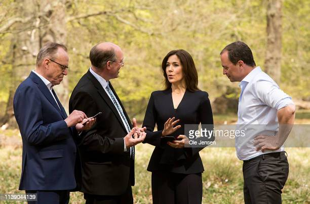 Crown Princess Mary of Denmark together with Minister of Science and Higher Education Tommy Ahlers Carsten Rahbek Centre for Marcro Economy and...