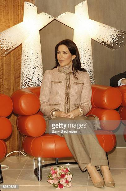 Crown Princess Mary of Denmark visits the ''Danish Design'' event on March 22 2009 in Chicago Illinois