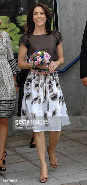 Crown Princess Mary of Denmark visits the Danish Federation of Small-and Medium-sized Enterprises' stand at the home and gift trade show Summer Fair...