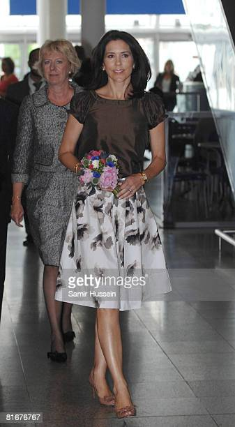 Crown Princess Mary of Denmark visits the Danish Federation of Smalland Mediumsized Enterprises' stand at the home and gift trade show Summer Fair...
