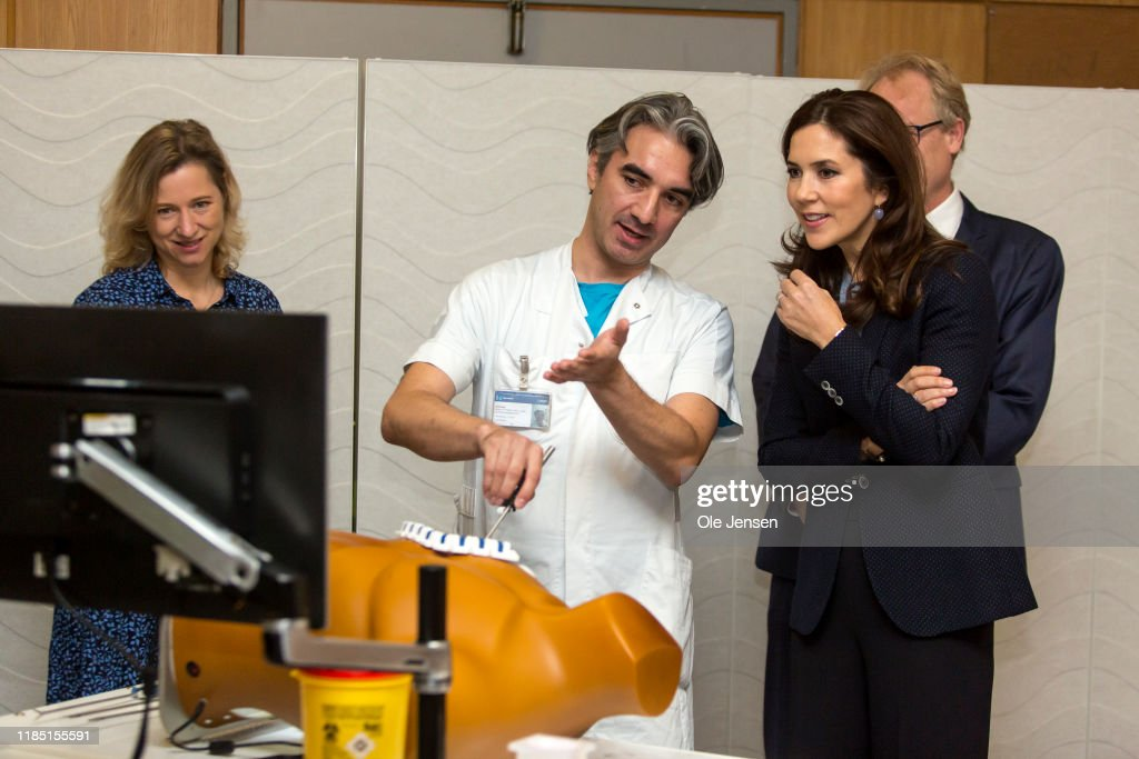 Crown Princess Mary Of Denmark Visits The Danish Government Hospital : News Photo