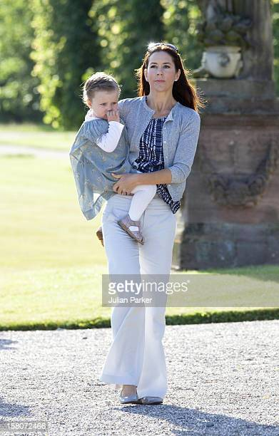 Crown Princess Mary Of Denmark With Princess Isabella On The Morning Of Prince Henriks 75Th Birthday
