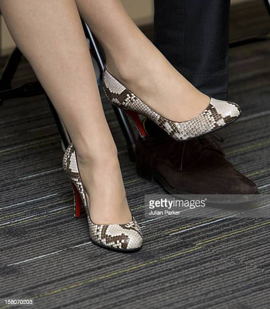 Crown Princess Mary Of Denmark'S Shoes Photographed During A Visit To Grand View University In Des Moines Iowa As Part Of A Six Day Official Visit To...