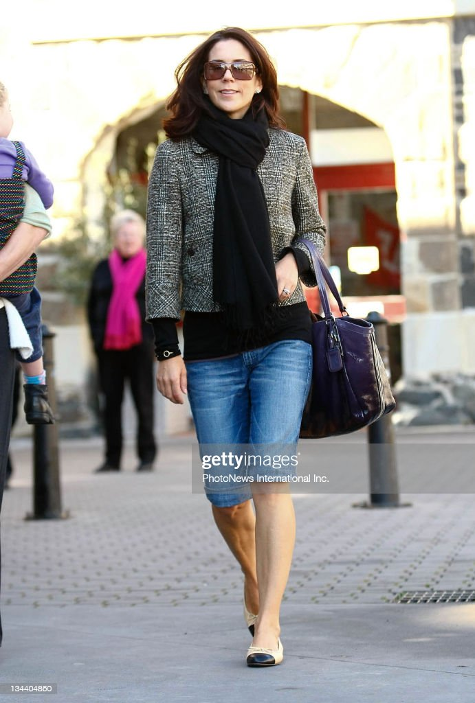 Crown Princess Mary smiles during a family day out on August 25, 2008 in Hobart, Tasmania. The royal couple and their children are enjoying a private visit to Australia following their attendance at the Beijing Olympics, with Prince Frederik joining his wife, children and her family only yesterday from Beijing.