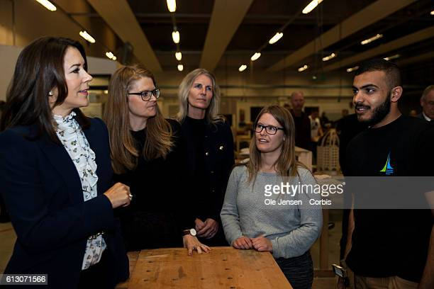 Crown Princess Mary visits Roskilde Vocational School which sets prirority to develop stronger sense of community between the students on October 5...
