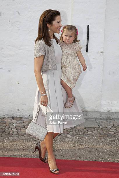 Crown Princess Mary With Princess Isabella Attend The Christening Of Prince Henrik Carl Joachim Alain At Mogeltonder Church In Mogeltonder Denmark