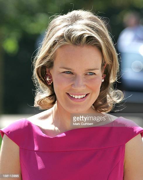 Crown Princess Mathilde Of Belgium Attends The Silver Wedding Anniversary Celebrations Of Grand Duke Henri Grand Duchess MariaTheresa Of...