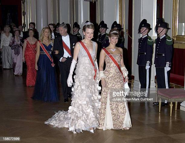 Crown Princess Mathilde Of Belgium Princess Martha Louise Of Norway Attend King Harald Of Norway'S 70Th Birthday Celebrations In OsloGala Dinner...