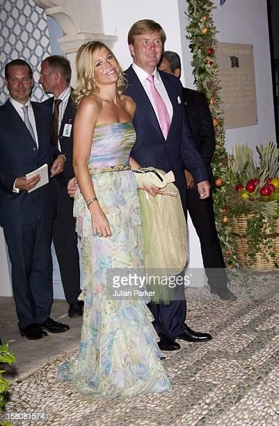 Crown Princess Maxima, And Crown Prince Williem Alexander Of Holland The Wedding Of Prince Nikolaos Of Greece And Tatiana Blatnik At The Monastery Of...