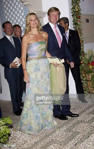 Crown Princess Maxima And Crown Prince Williem Alexander Of Hollandthe Wedding Of Prince Nikolaos Of Greece And Tatiana Blatnik At The Monastery Of...