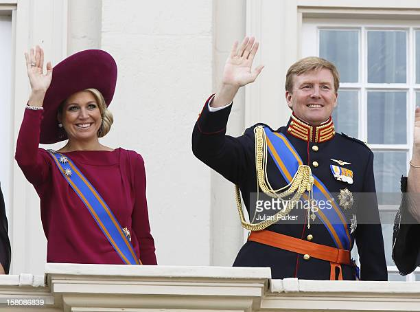 Crown Princess Maxima And Prince Willem Alexander Of Holland, On The Balcony At The Noordeinde Palace During Princes Day Celebrations In Den Haag,...