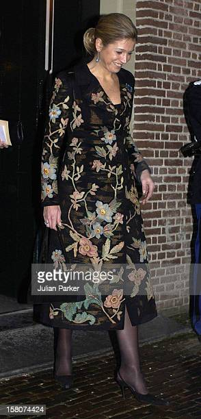 Crown Princess Maxima At The Christening Of Prince Constantijn Princess Laurentien Of Holland'S Daughter Eloise Sophie Beatrix Laurence At The Palais...