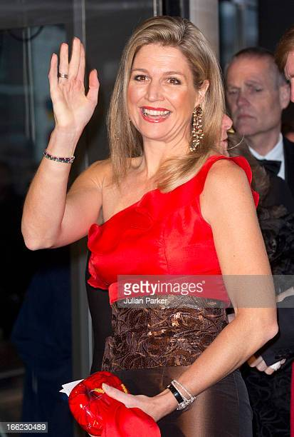 Crown Princess Maxima attends a concert to mark the 125th Anniversary of the Concertgebouw, at the Concertgebouw on April 10, 2013 in Amsterdam,...