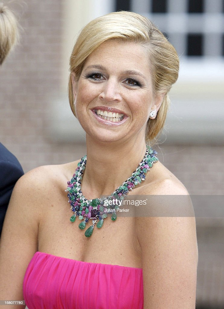 Crown Princess Maxima Attends A Festive Reception At Het Loo Palace In Apeldoorn To Celebrate The 40Th Birthday Of Crown Prince Willem Alexander Of Holland.Crown Prince Willem Turned 40 In April 2007. .