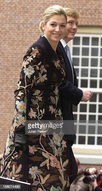 Crown Princess Maxima Crown Prince Willem Alexander At The Christening Of Prince Constantijn Princess Laurentien Of Holland'S Daughter Eloise Sophie...
