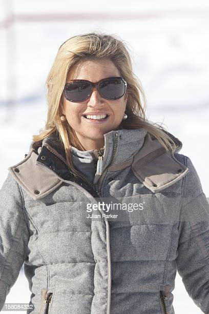 Crown Princess Maxima Of Holland Attends A Photocall With Members Of The Dutch Royal Family During Their Winter Ski Holiday In Lech Austria