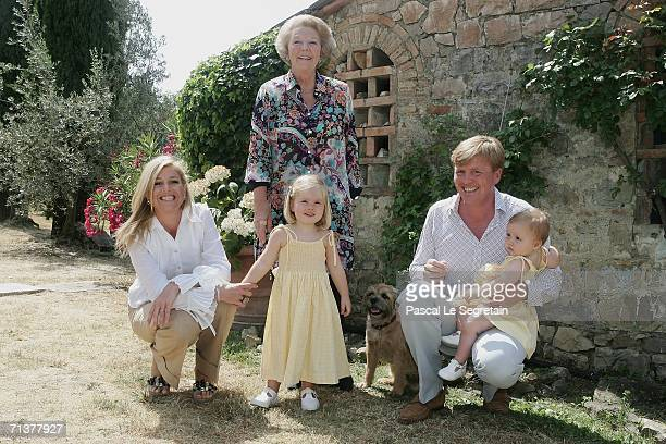 Crown Princess Maxima of the Netherlands Queen Beatrix of the Netherlands Princess Amalia Crown Prince Willem Alexander and Princess Alexia pose...