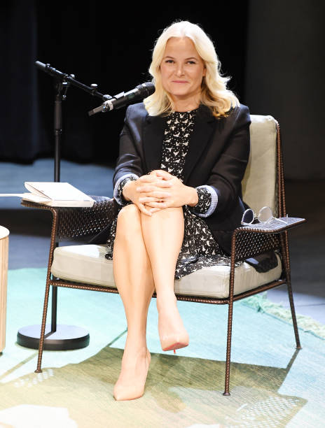 NOR: Crown Princess Mette Marit Meets The Author Geir Gulliksen In Oslo