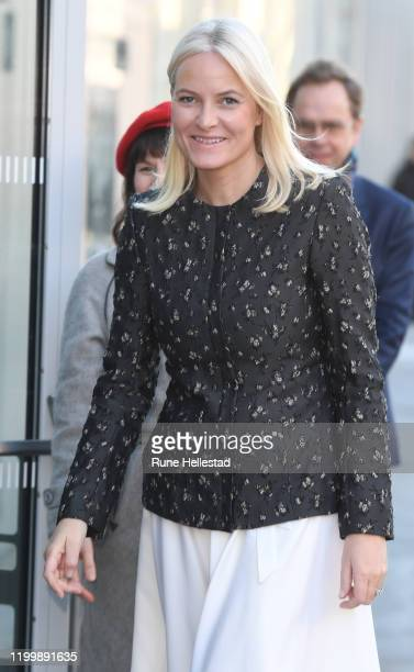 Crown Princess Mette- Marit of Norway attends Children's Book Parade at Deichman Bjorvika Library on January 16, 2020 in Oslo, Norway.