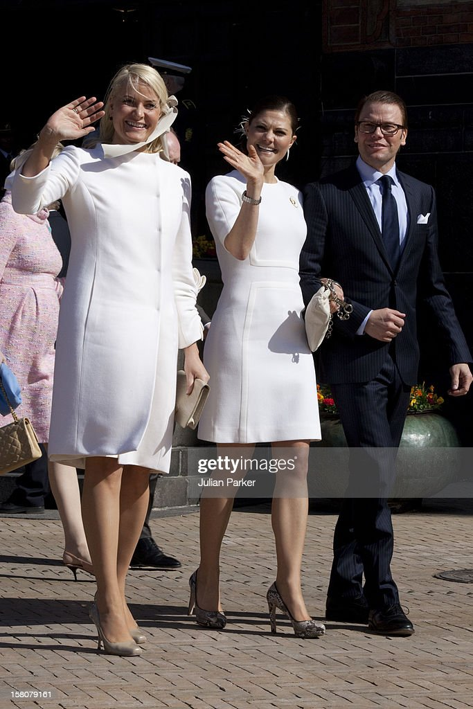 Crown Princess Mette Marit Of Norway, Crown Princess Victoria Of Sweden, And Fiance Daniel Westling Attend A Reception At The City Hall In Copenhagen, As Part Of Her 70Th Birthday Celebrations.