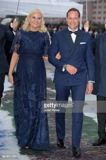 Crown Princess MetteMarit and Crown Prince Haakon of Norway attend a Gala Banquet hosted by The Government at The Opera House as part of the...