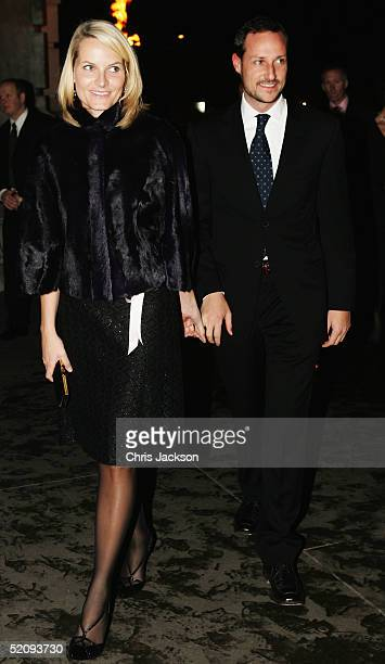Crown Princess MetteMarit and Prince Haakan of Norway arrive at the Private View of 'Style and Splendour Queen Maud of Norway's Wardrobe' exhibition...