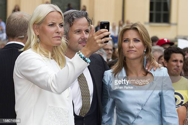 Crown Princess MetteMarit And Princess Martha Louise And Husband Ari Behn Attending A Concert To Mark The 10Th Wedding Anniversary Of Crown Prince...