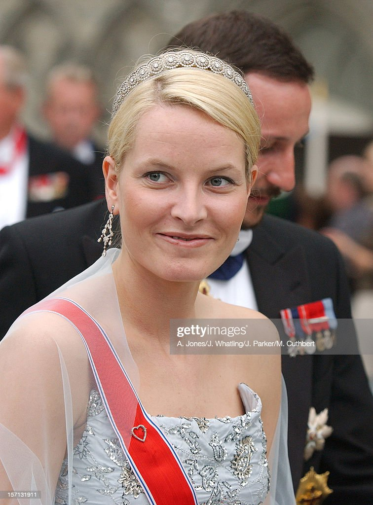 Crown Princess Mette-Marit At The Wedding Of Princess Martha Louise Of Norway And Ari Behn In Trondheim.