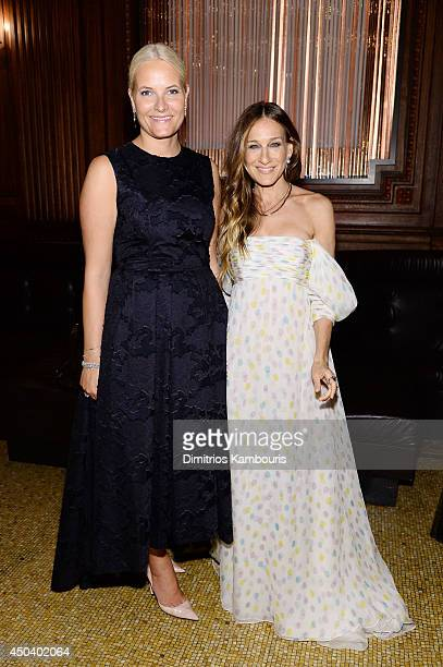 Crown Princess MetteMarit of Norway and Actress and presenter Sarah Jessica Parker attend the amfAR Inspiration Gala New York 2014 at The Plaza Hotel...