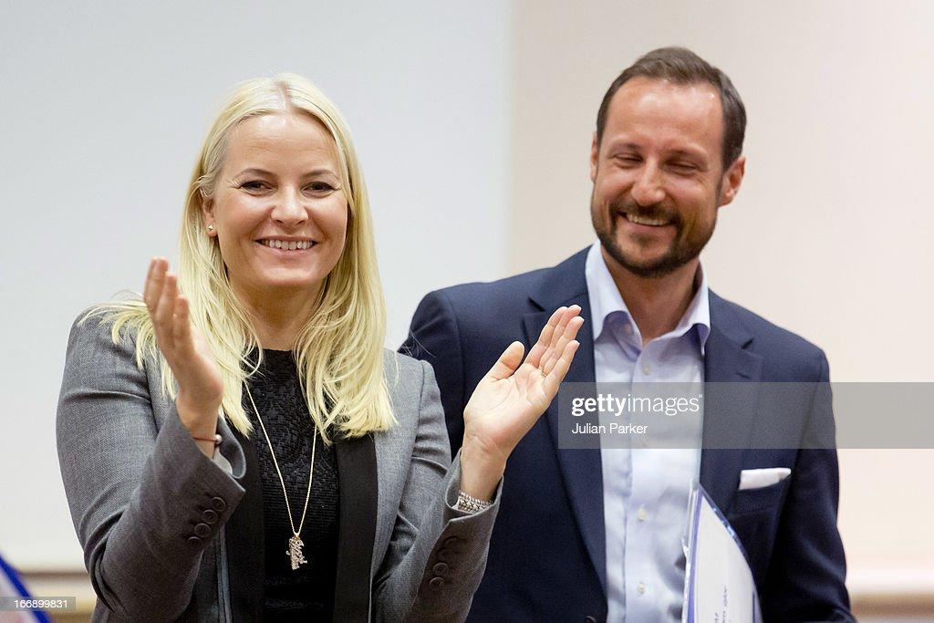 Crown Prince Haakon & Crown Princess Mette-Marit Of Norway Visit Arbeidsinstituttet