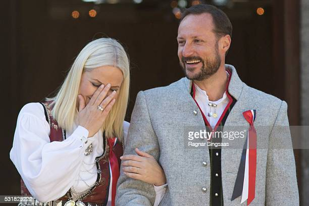 Crown Princess MetteMarit of Norway and Crown Prince Haakon of Norway celebrate National Day on May 17 2016 in Asker Norway