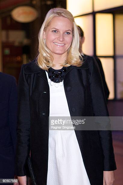 Crown Princess Mette-Marit of Norway attends a charity gala on October 29, 2009 in Oslo, Norway.