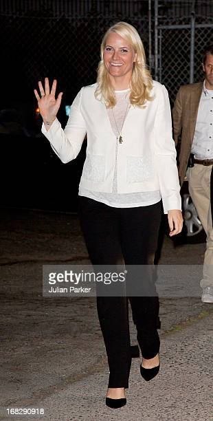 Crown Princess MetteMarit of Norway attends a concert given by Norwegian band ' Kvelertak ' at Slim's Music Club during day three of their five day...