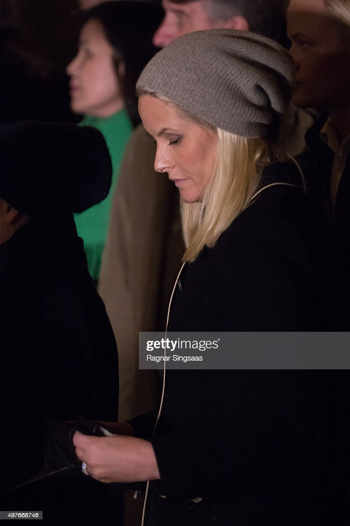 Crown Princess Mette-Marit of Norway attends a Paris Memorial on November 17, 2015 in Oslo, Norway.