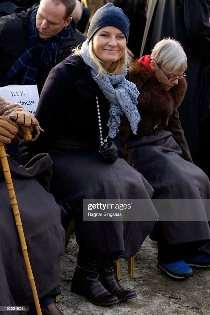 Crown Princess Mette-Marit of Norway attends Holocaust Remembrance Day on January 27, 2015 in Oslo, Norway.