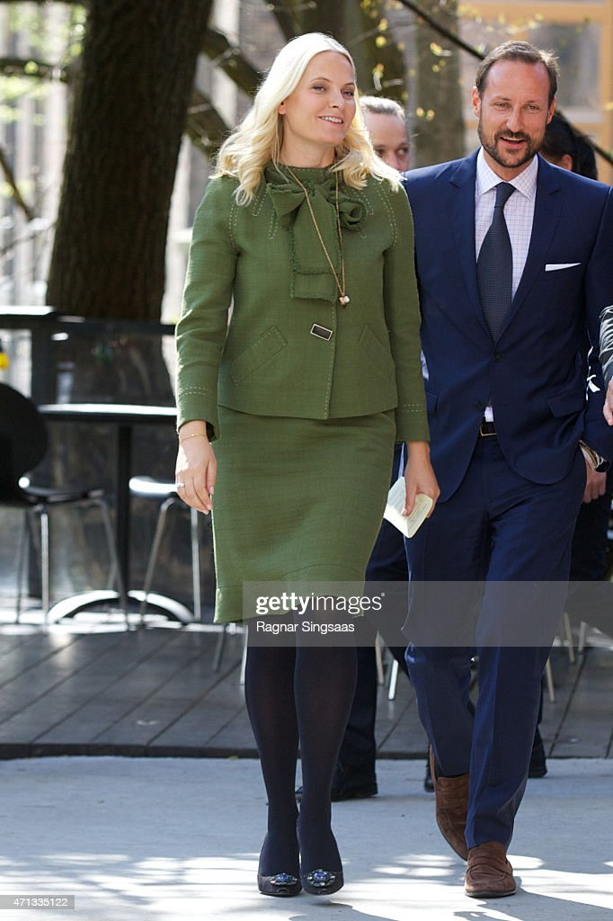 Crown Princess Mette-Marit of Norway attends the 25th anniversary of CICERO (the Center for International Climate and Environmental Research) on April 27, 2015 in Oslo, Norway.