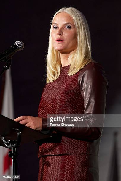 Crown Princess MetteMarit of Norway attends The Celebration Of The 150th Anniversary of the Norwegian Red Cross on November 4 2015 in Oslo Norway
