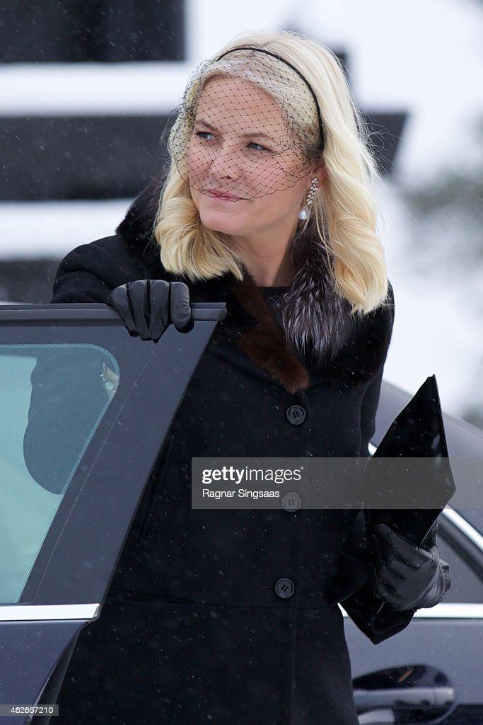 Johan Martin Ferner Funeral In Oslo : ニュース写真