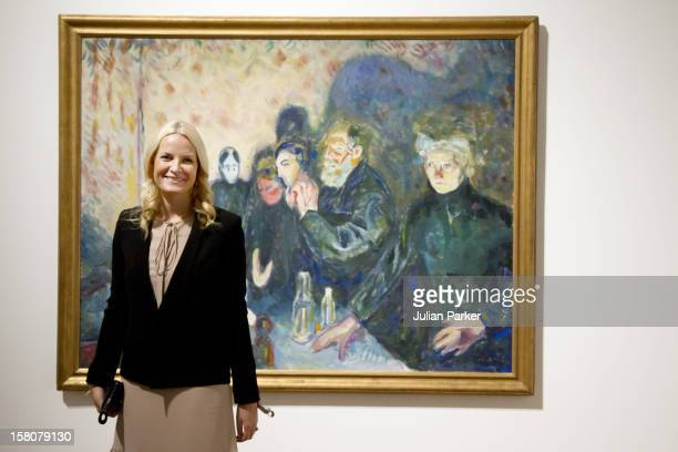 Crown Princess MetteMarit Of Norway Attends The Opening Of The Exhibition Edvard Munch The Modern Look At Schim Kunsthalle In Frankfurt Germany