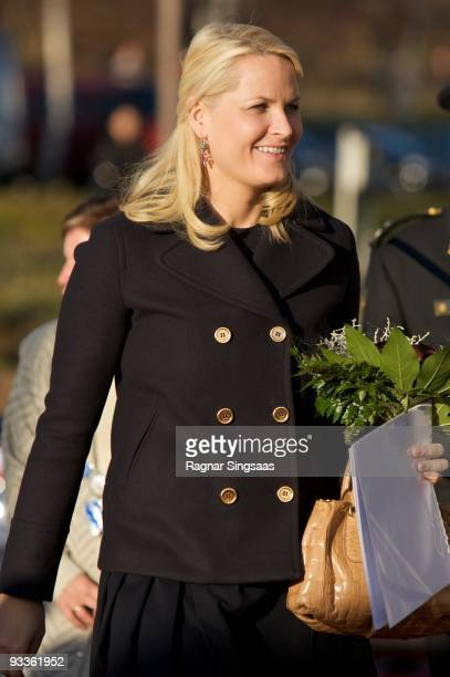 Crown Princess MetteMarit of Norway attends the opening of the world's first facility for saltwater energy production on November 24 2009 in Oslo...