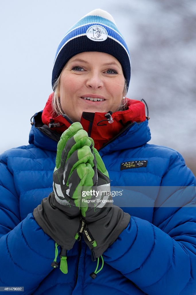 Crown Princess Mette-Marit of Norway attends the Opening of 'The Year For Outdoor' Life on January 13, 2015 in Oslo, Norway.