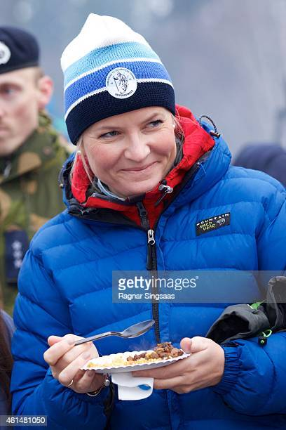 Crown Princess MetteMarit of Norway attends the Opening of 'The Year For Outdoor Life' on January 13 2015 in Oslo Norway