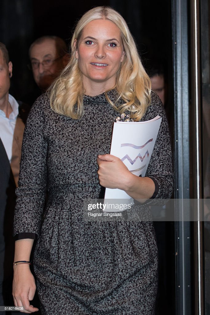 Crown Princess Mette-Marit of Norway attends the Risor Chamber Music Festival on March 30, 2016 in Oslo, Norway.