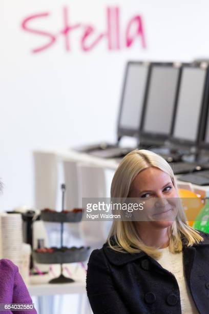 Crown Princess MetteMarit of Norway attends the Stella Red Cross Women Centre on March 16 2017 in Oslo Norway