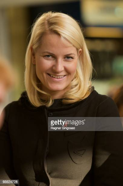 Crown Princess MetteMarit of Norway attends the World Aids Day event at Romsas Frivillighetssentral on December 1 2009 in Oslo Norway