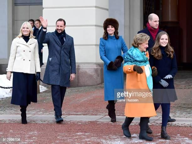 Crown Princess MetteMarit of Norway Crown Prince Haakon Catherine Duchess of Cambridge Queen Sonja of Norway Prince William Duke of Cambridge and...