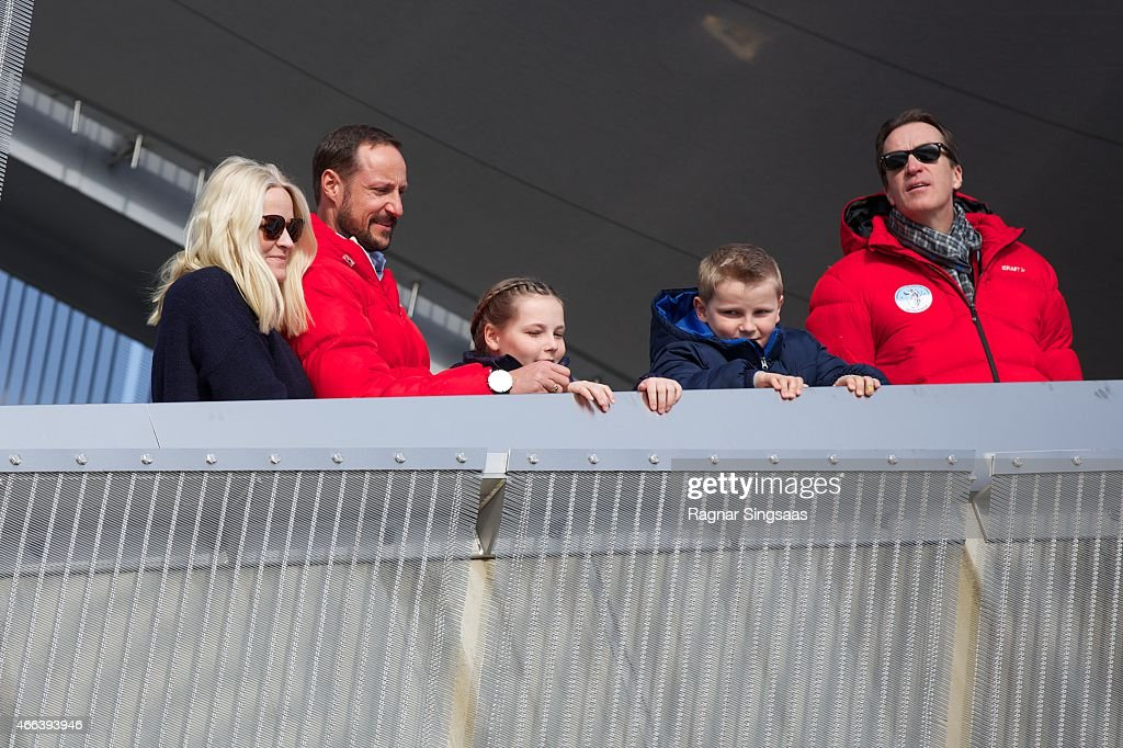 Norwegian Royals Attend Holmenkollen FIS World Cup Nordic in Oslo