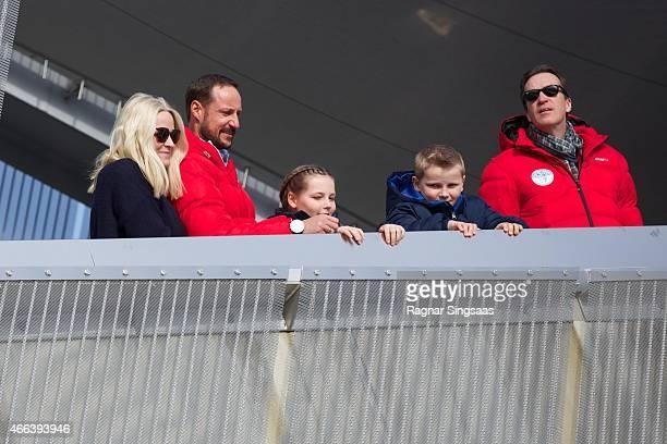 Crown Princess MetteMarit of Norway Crown Prince Haakon of Norway Princess Ingrid Alexandra of Norway and Prince Sverre Magnus of Norway attend the...