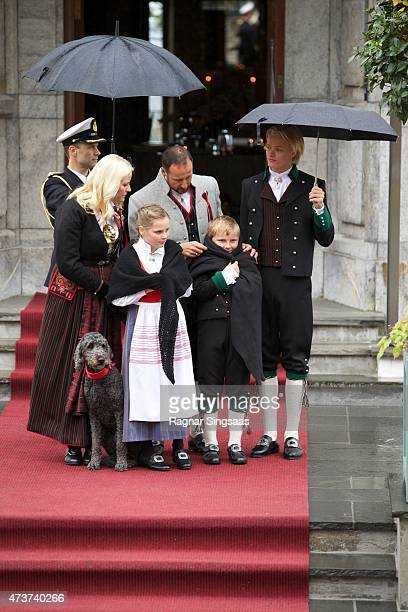 Crown Princess MetteMarit of Norway Crown Prince Haakon of Norway Princess Ingrid Alexandra of Norway Marius Borg Hoiby and Prince Sverre Magnus of...