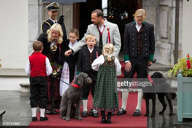 Crown Princess MetteMarit of Norway Crown Prince Haakon of Norway Princess Ingrid Alexandra of Norway Prince Sverre Magnus of Norway and Marius Borg...